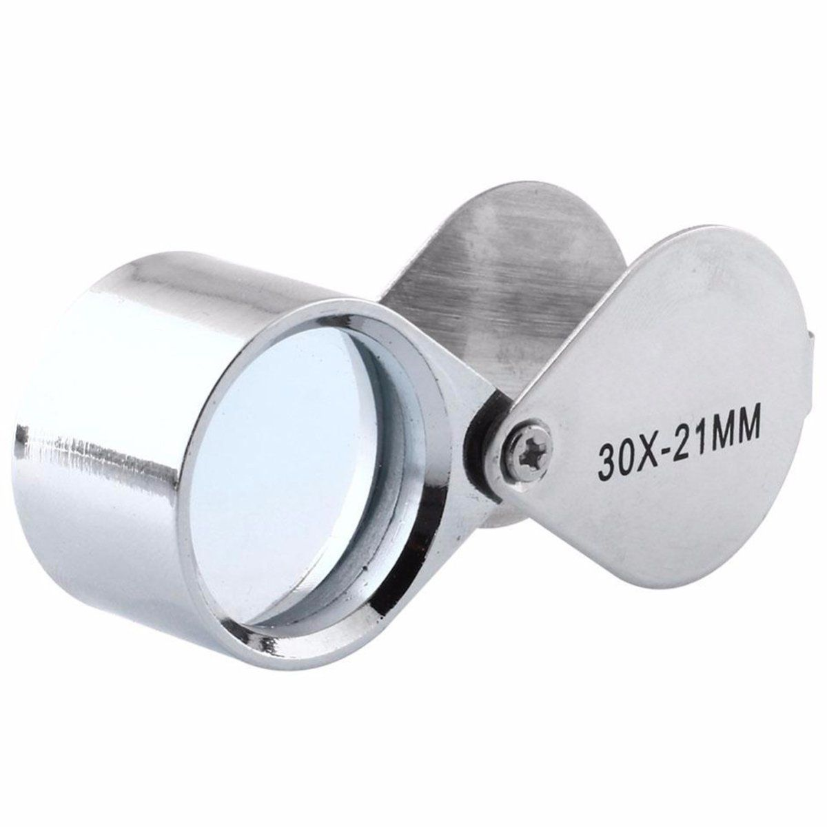 KINGMAS Pocket Jewelry Loupe 30x 21mm Jewelers Eye Magnifying Glass Magnifier
