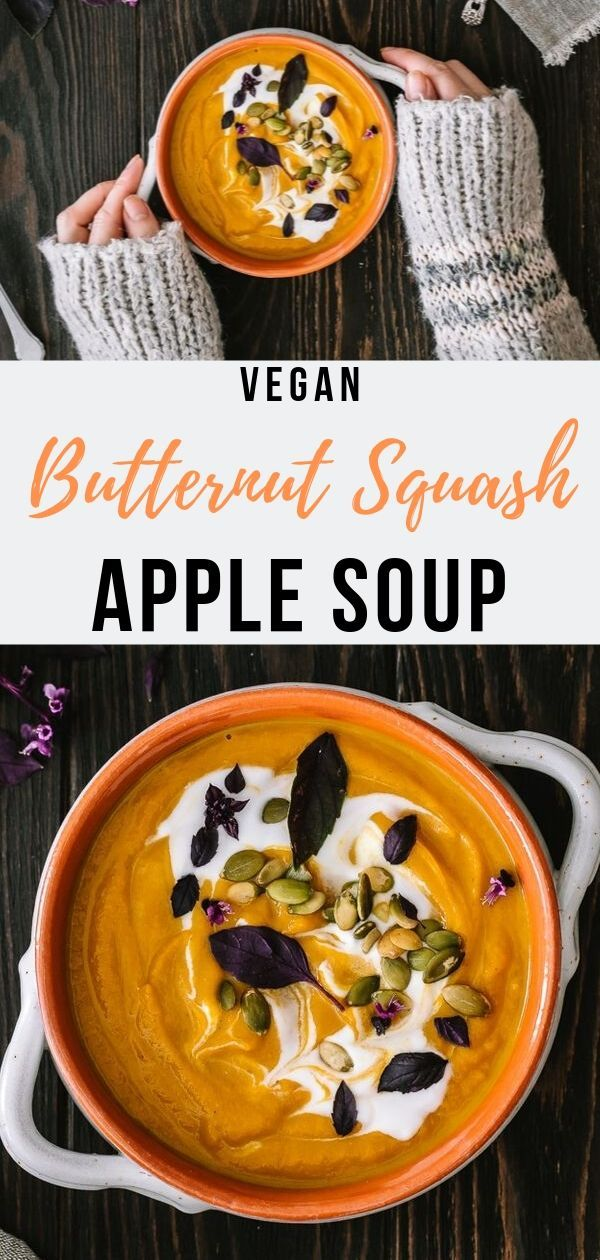 Butternut Squash and Apple Soup with Ginger and Turmeric - Le Petit Eats
