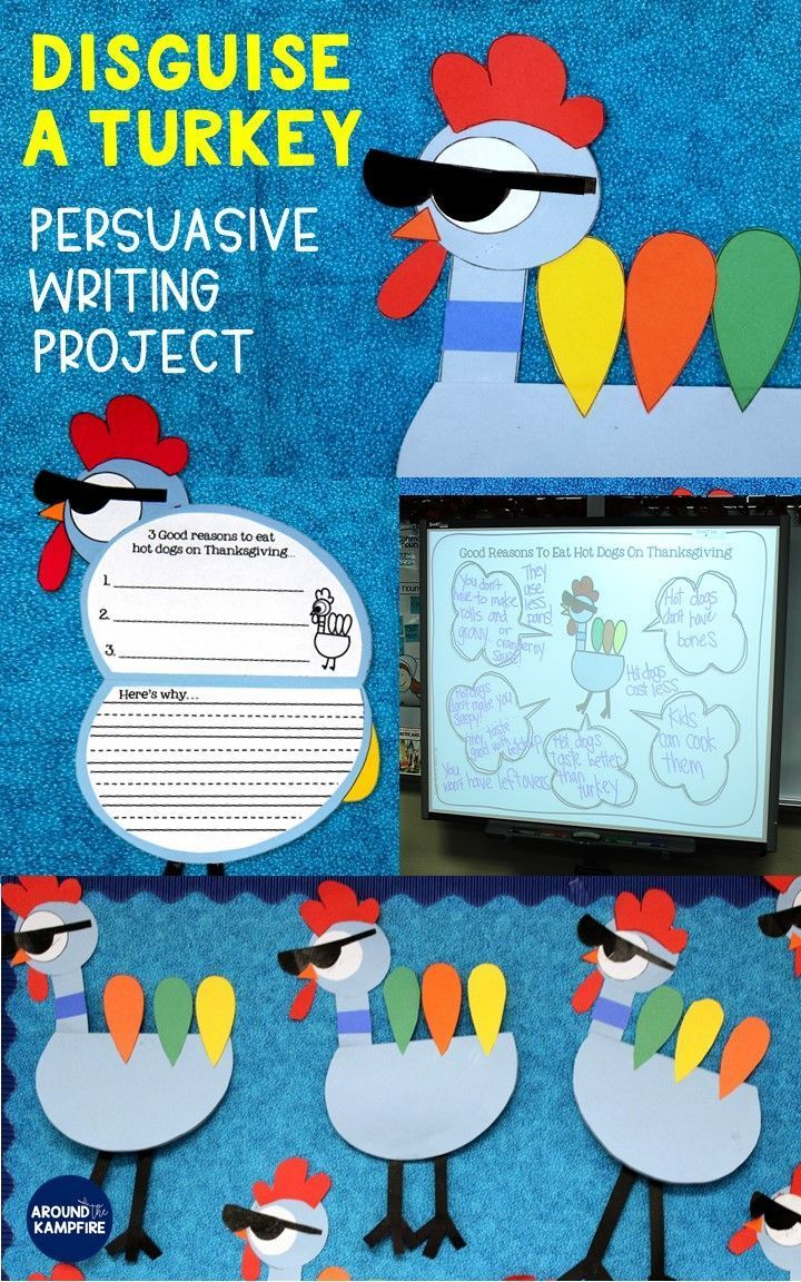 Thanksgiving writing with a very persuasive pigeon for Turkey template for bulletin board
