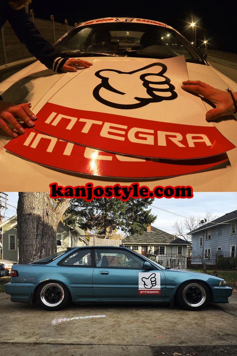 Integra DA No Good Racing Track Plates (With images