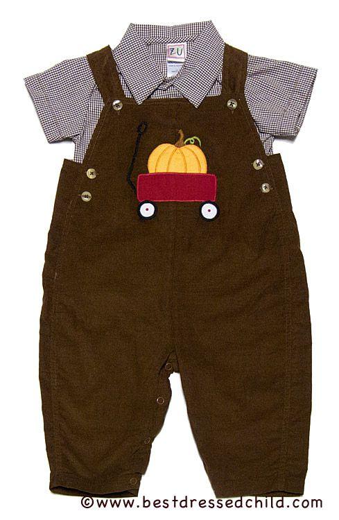 744c9e51d Petit Ami Infant Boys Brown Corduroy Longall   Shirt with Applique ...