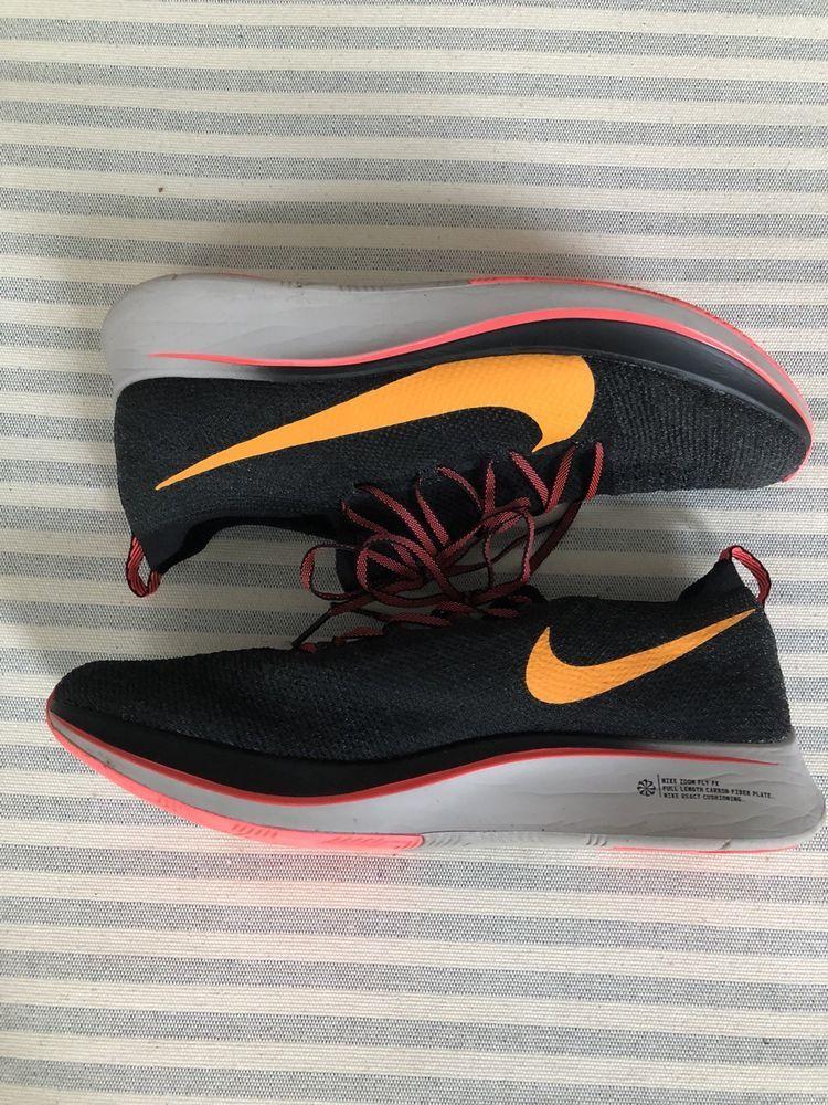 ffb40581e60e Nike Zoom Fly Flyknit AR4561-068 Black Orange Peel Moon Particle Flash