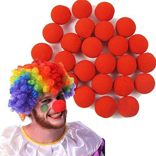 Spevert 100pcs Foam Clown Nose Circus for Party Halloween Costume - circus halloween decorations