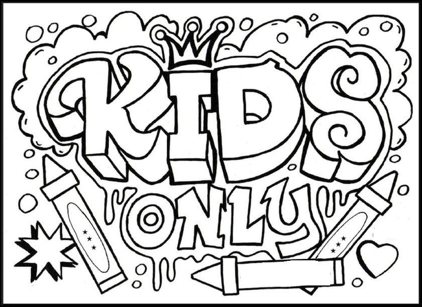 fun coloring pages for kids Fun Coloring Pages For Older Kids To