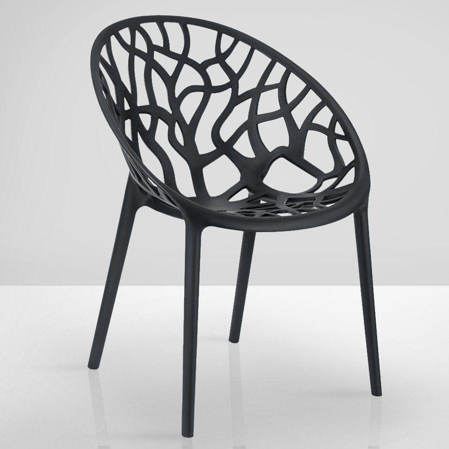 Ggm Mobel International Amazonas Bistro Terrassen Stuhl Schwarz Kunststoff Stapelbar Design Retro Schalen Gastr Terrassen Stuhle Stuhle Stuhl Schwarz