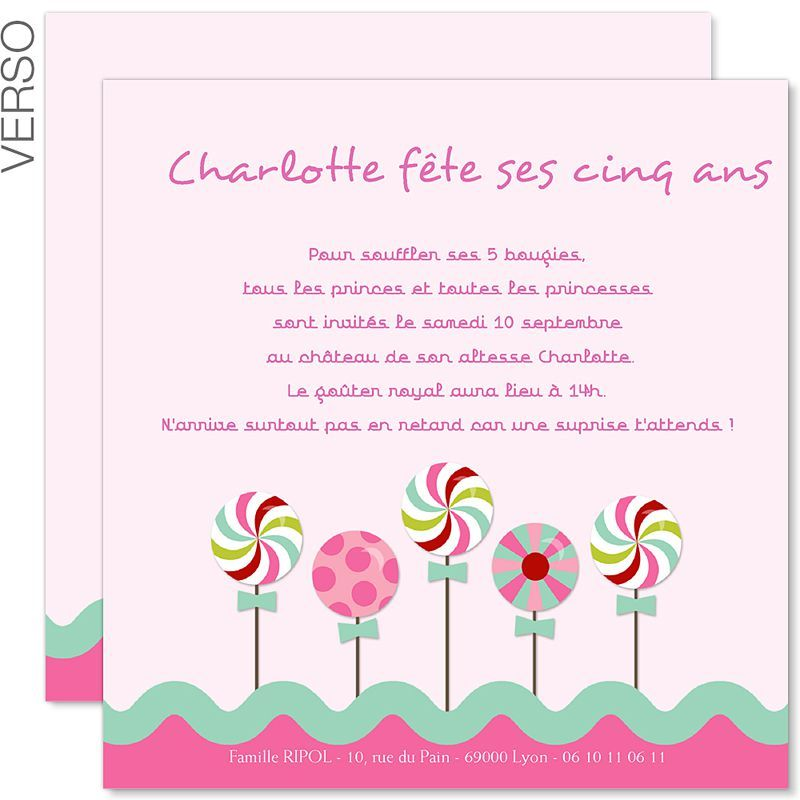 carte d 39 invitation anniversaire fille a imprimer. Black Bedroom Furniture Sets. Home Design Ideas