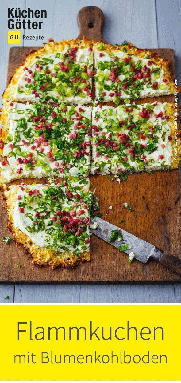 Tarte flambée with cauliflower batter  – Einfach Lecker!