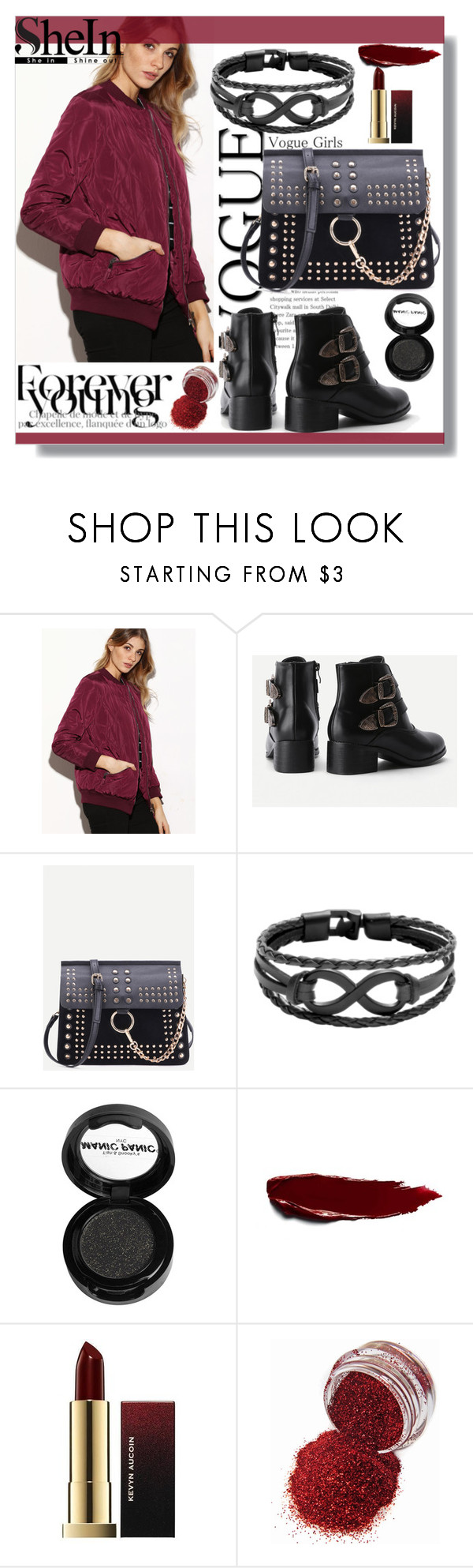 """""""SheIn"""" by mila96h ❤ liked on Polyvore featuring Manic Panic NYC and shein"""