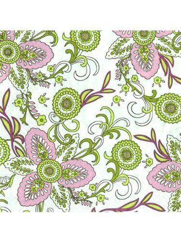 """Set 40 PCS 6.6"""" Large Luncheon Green Pink Aureus Flowers Paper Cocktail Napkins by American Chateau. $14.99. Size: 0.9"""" H x 6.6"""" L x 6.6"""" W. You get 2 Packs of 20. Material: PAPER. Made In Poland. Material: PAPER; Size: 0 9/10"""" H x 6 3/5"""" L x 6 3/5"""" W; You get 2 Packs of 20; Made In Poland"""