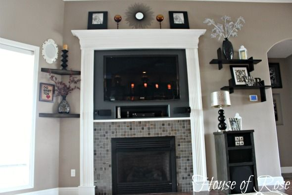 Makeover Fireplace Turned Fancy Fireplace Makeover Modern Fireplace Fireplace Built Ins