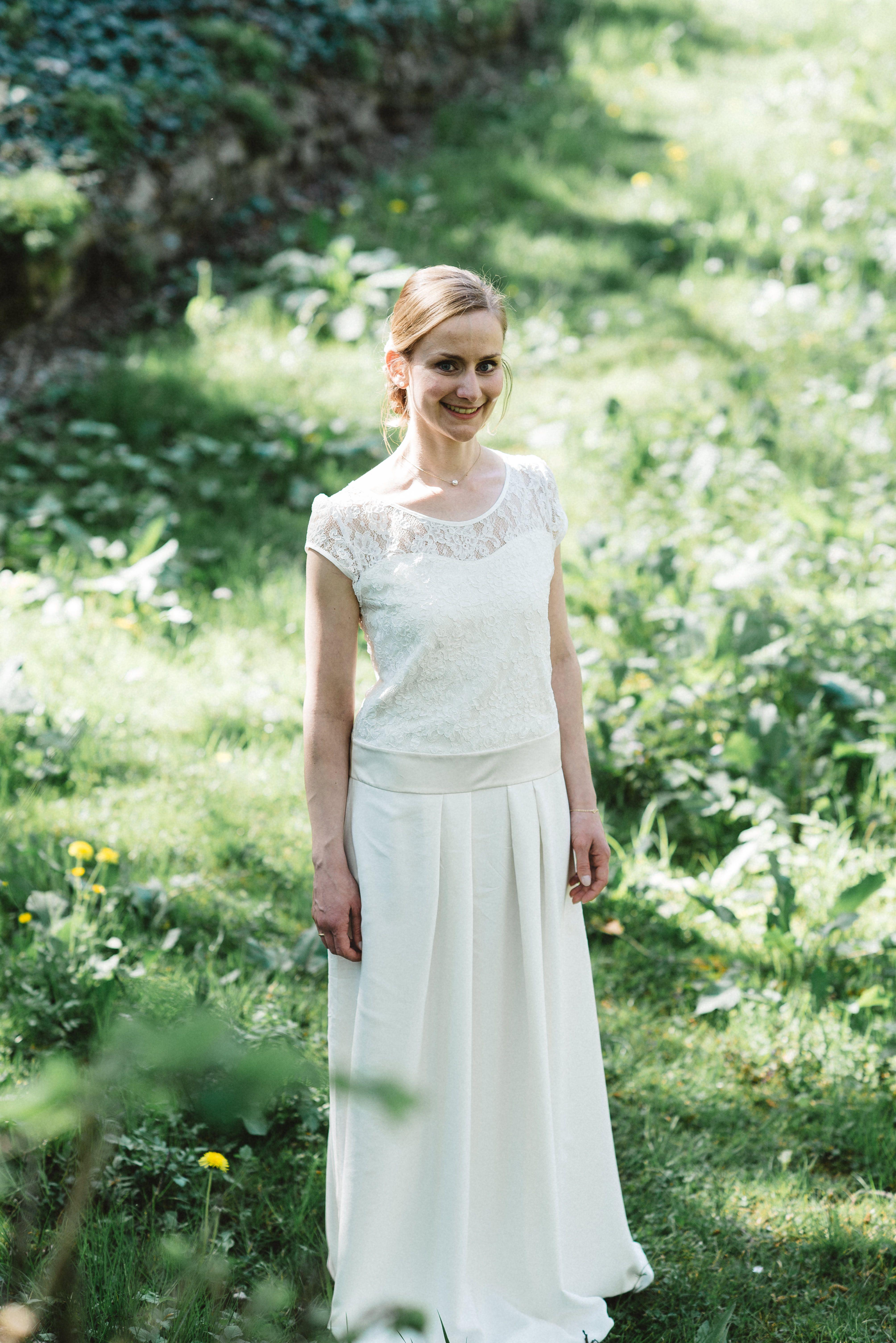 Labude Braut - Brautkleid Florentine Vintage Stil Boho Wedding dress ...