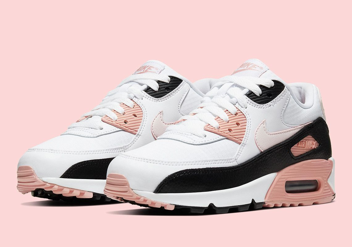 Soft Pink Accents Appear On This Crisp Nike Air Max 90