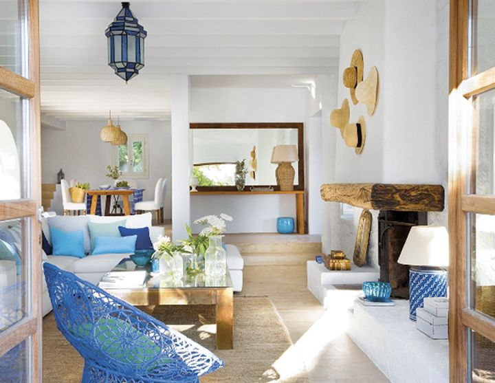 Madera natural azul blanco estilo mediterr neo cuqui - Comedores estilo vintage ...