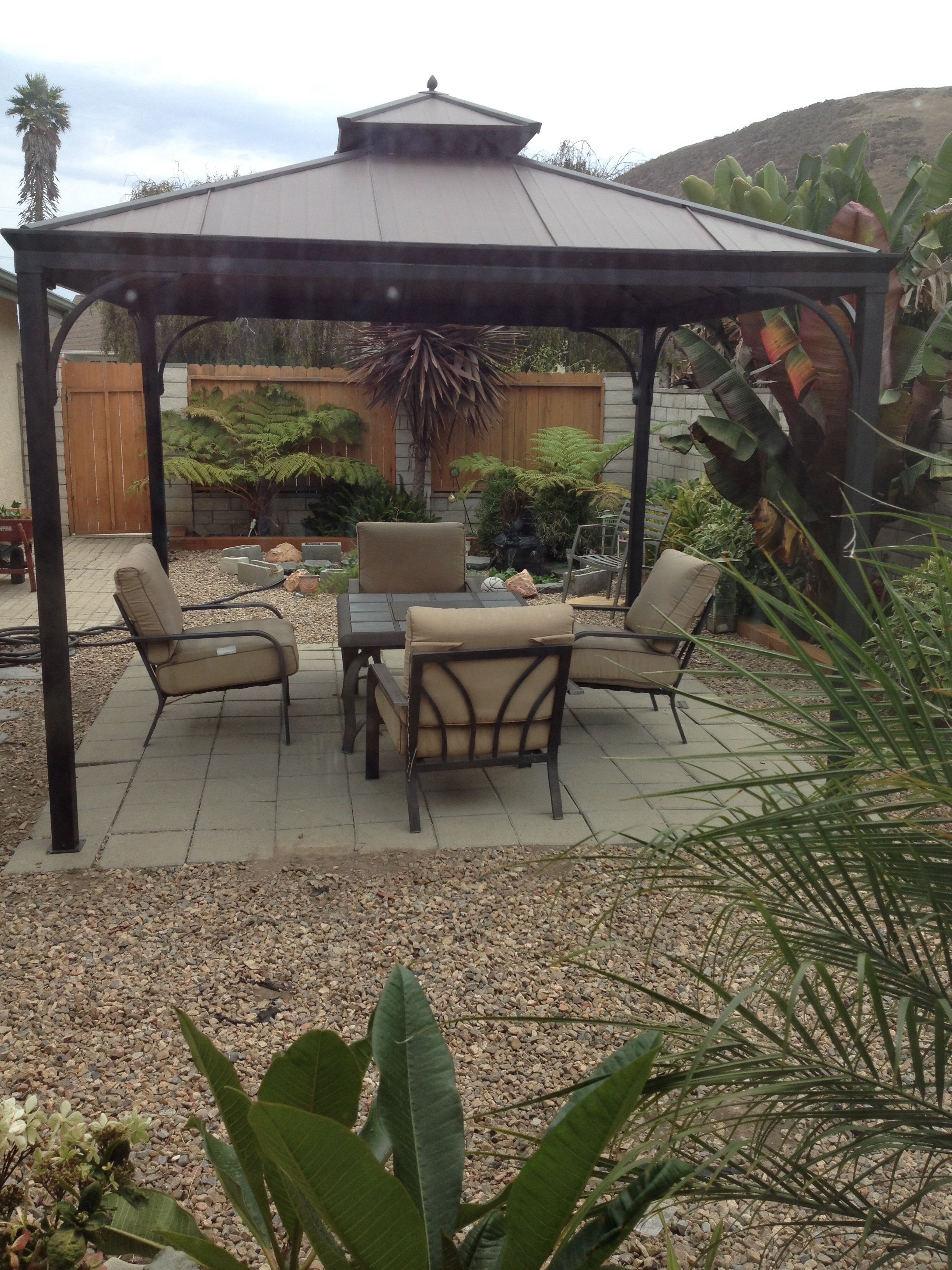 Harper gazebo from Home Depot Perfect addition to my side ... on Home Depot Patio Ideas id=23870