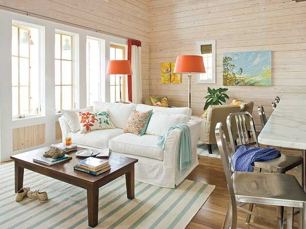 Image result for Modern White Coastal Living Room Style