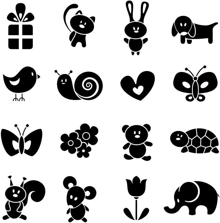 Картинки для новорожденных в черно-белом цвете