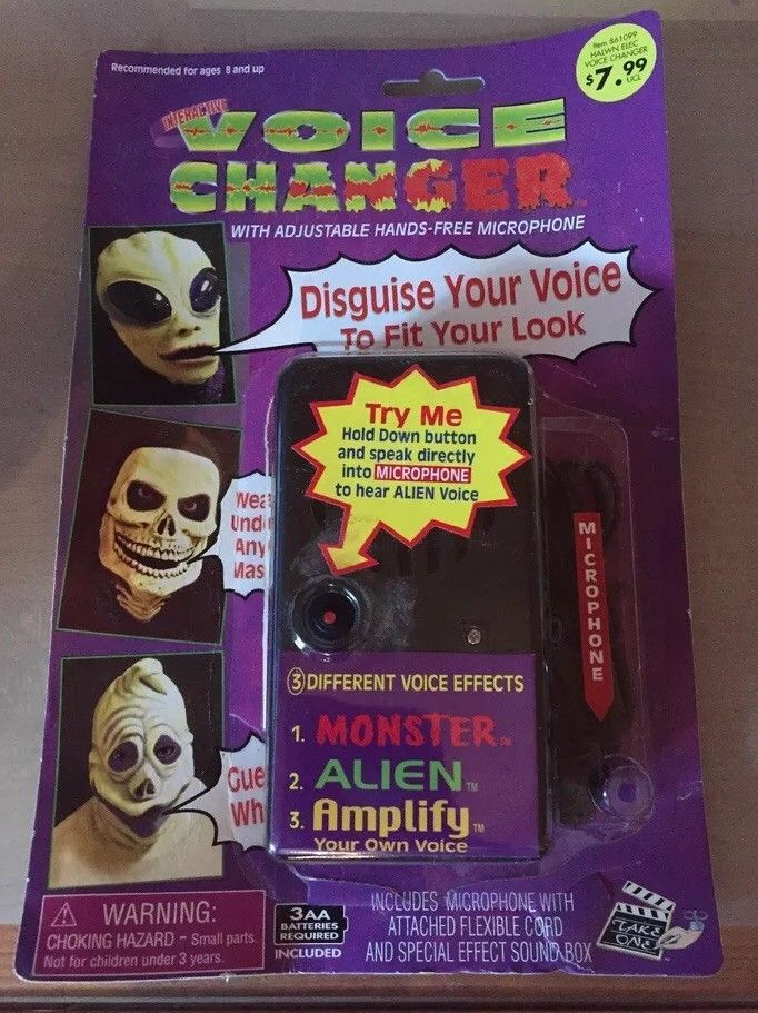 Halloween Voice Changer Hands Free Microphone ~ Disguise