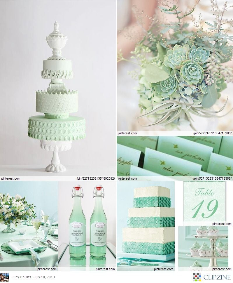 Mint Green Wedding Table #Mint / Pastel Green Wedding