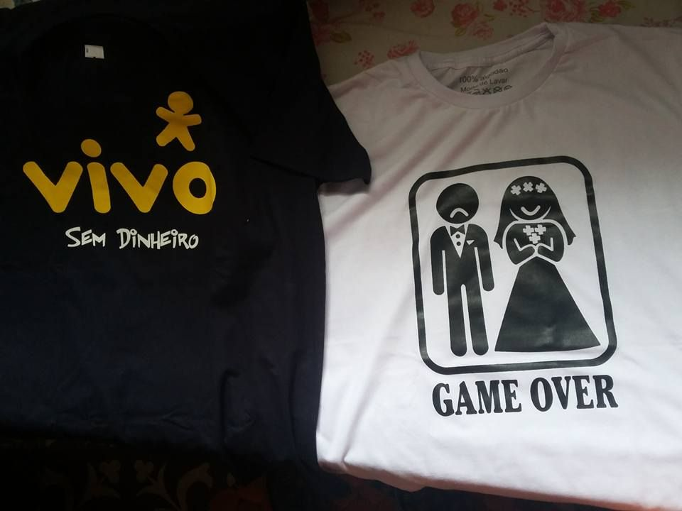 "Ivan Júnior - ""Acabei de receber. Material 100% e entrega rápida"" __ CAMISETA GAME OVER - NOIVO TRISTE __"