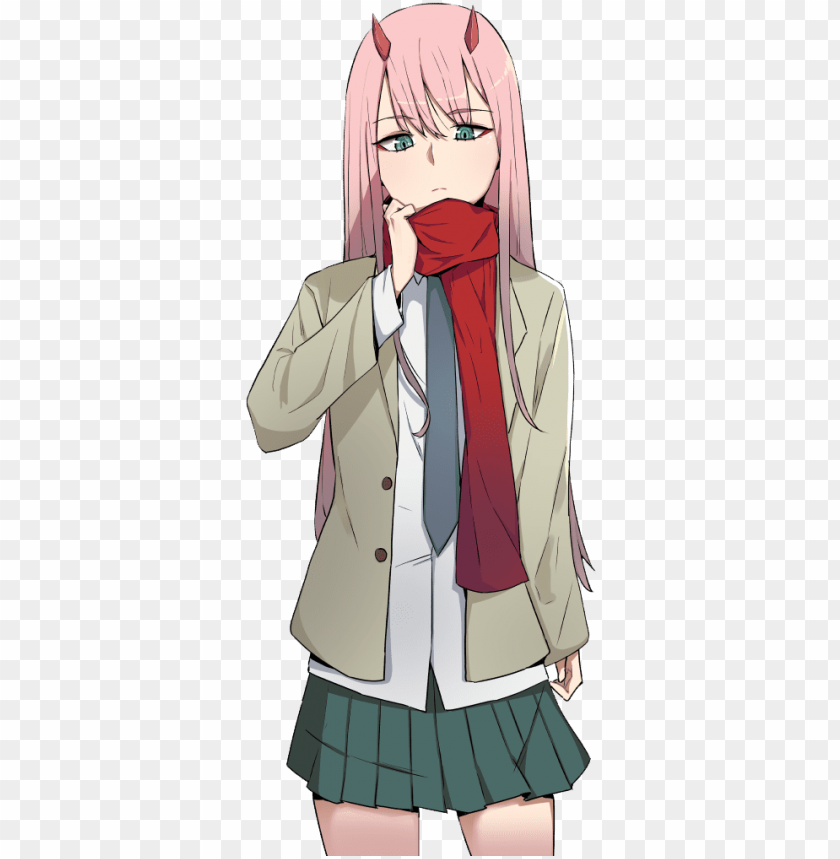 Free Png Zero Two 27 Zero Two School Uniform Png Image With Transparent Background Png Images Transparent In 2021 Zero Two Png Images Free Png