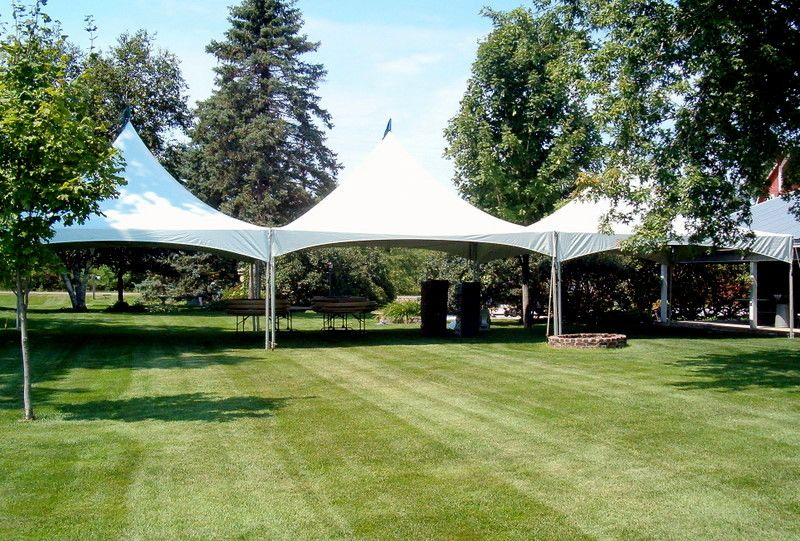 20 x 60 high peaked tent - these connect together and can ...