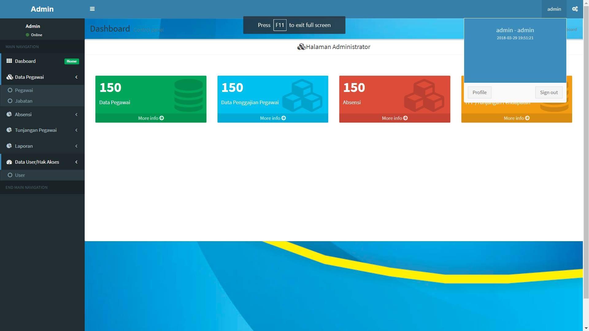 Source Code Aplikasi Sistem Informasi Gaji Pegawai Berbasis Php Php Aplikasi