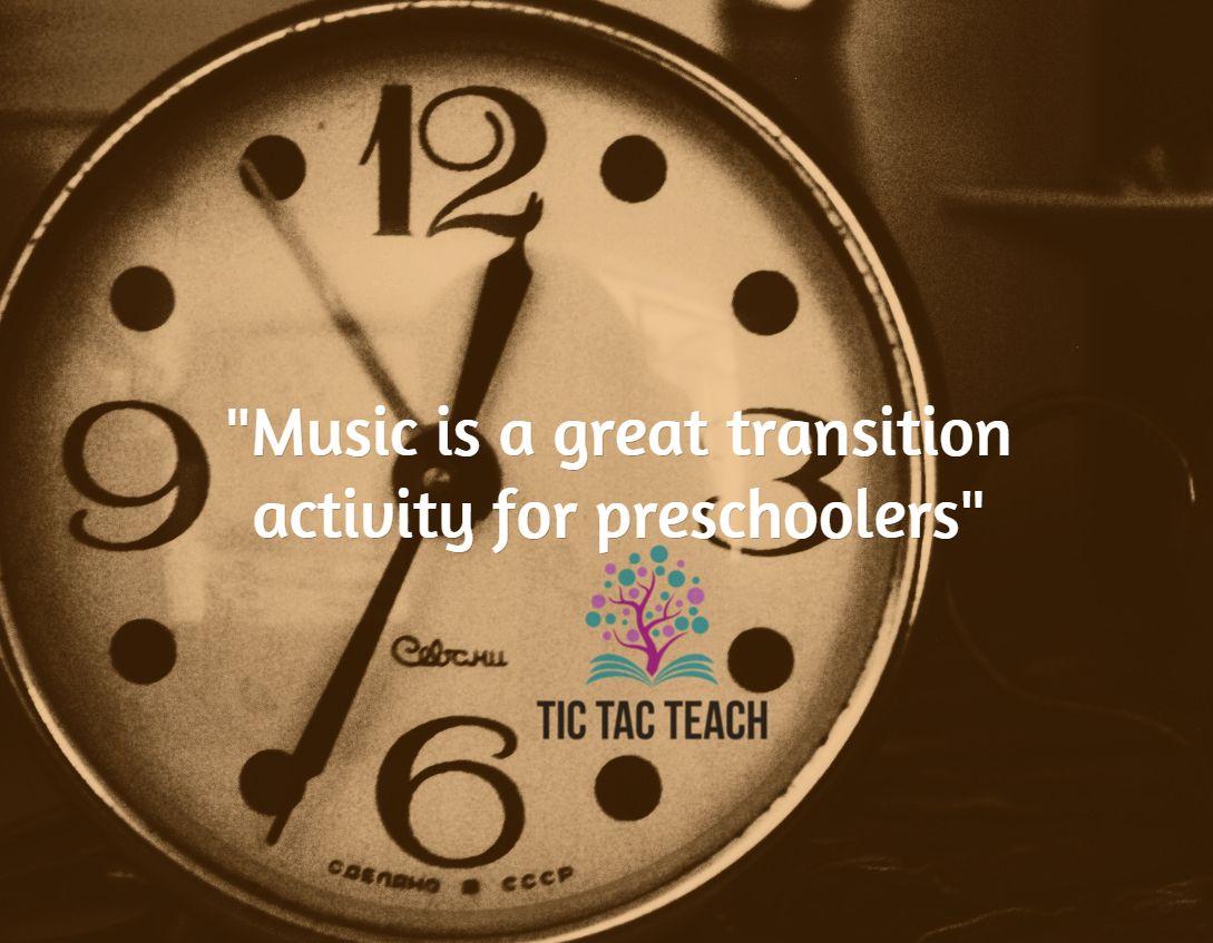 Music is a great transition activity for preschoolers: http://tictacteach.com/preschool-songs/