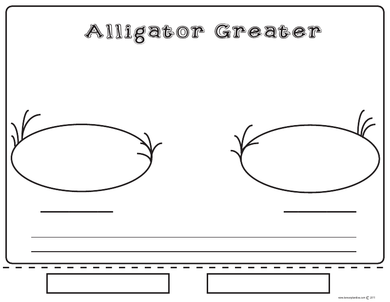 Alligator Greater worksheet | School Ideas | Pinterest | Alligators ...