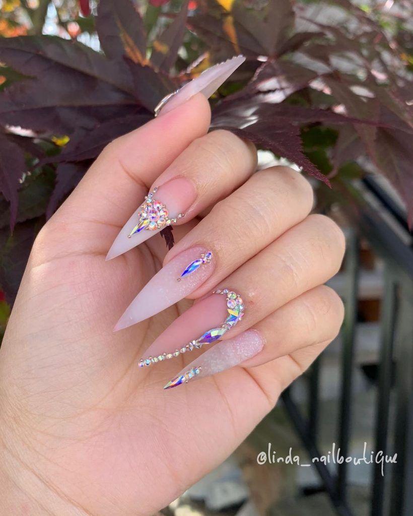 Always Wanted To Try Stiletto Nails Nail Art Nail Shapes Stiletto Nails Weddingideasdiy Com Pretty Acrylic Nails Acrylic Nails Stiletto Best Acrylic Nails