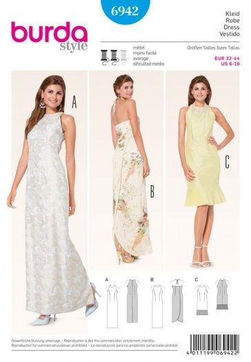 Patron de robe - Burda 6942   Fashion - Dresses   Pinterest