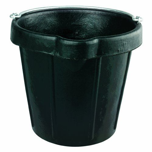 Fortex N105-12 Heavy Duty Rubber Pail with Lip, 12-Quart by Fortex. $23.23. Heavy duty reinforced molded pails will not crush, rust, dent, leak or chip.  Bounces back upon impact.  Resists heat and cold, lime, acids, salt, water, fuels, grease and chemicals.