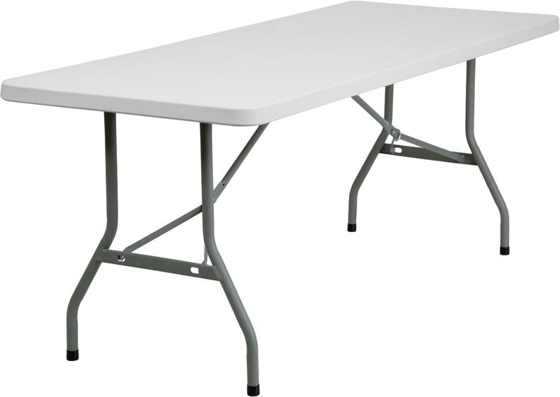 30 W X 72 L Granite White Plastic Folding Table Folding Table Table