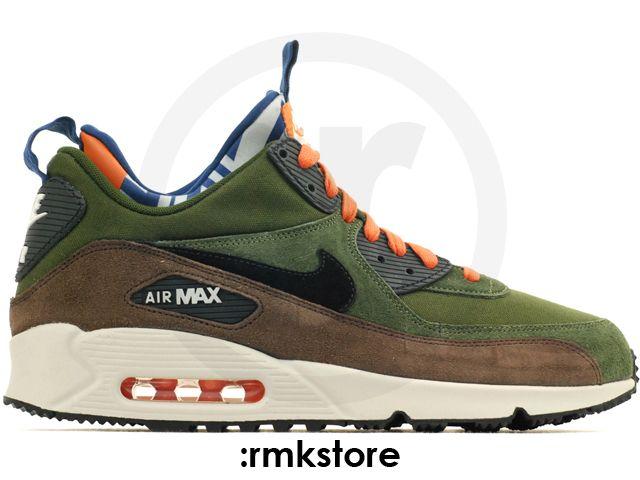 Nike Air Max 90 Sneakerboot Mid PRM Lagoon Green Black Baroque Brown