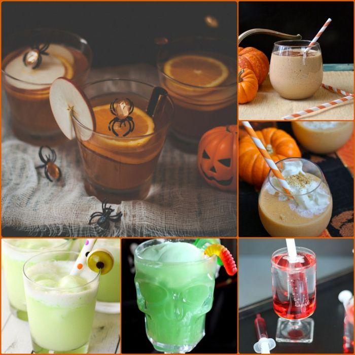 halloween getränke für kinder rezepte kürbis deko | Halloween ...