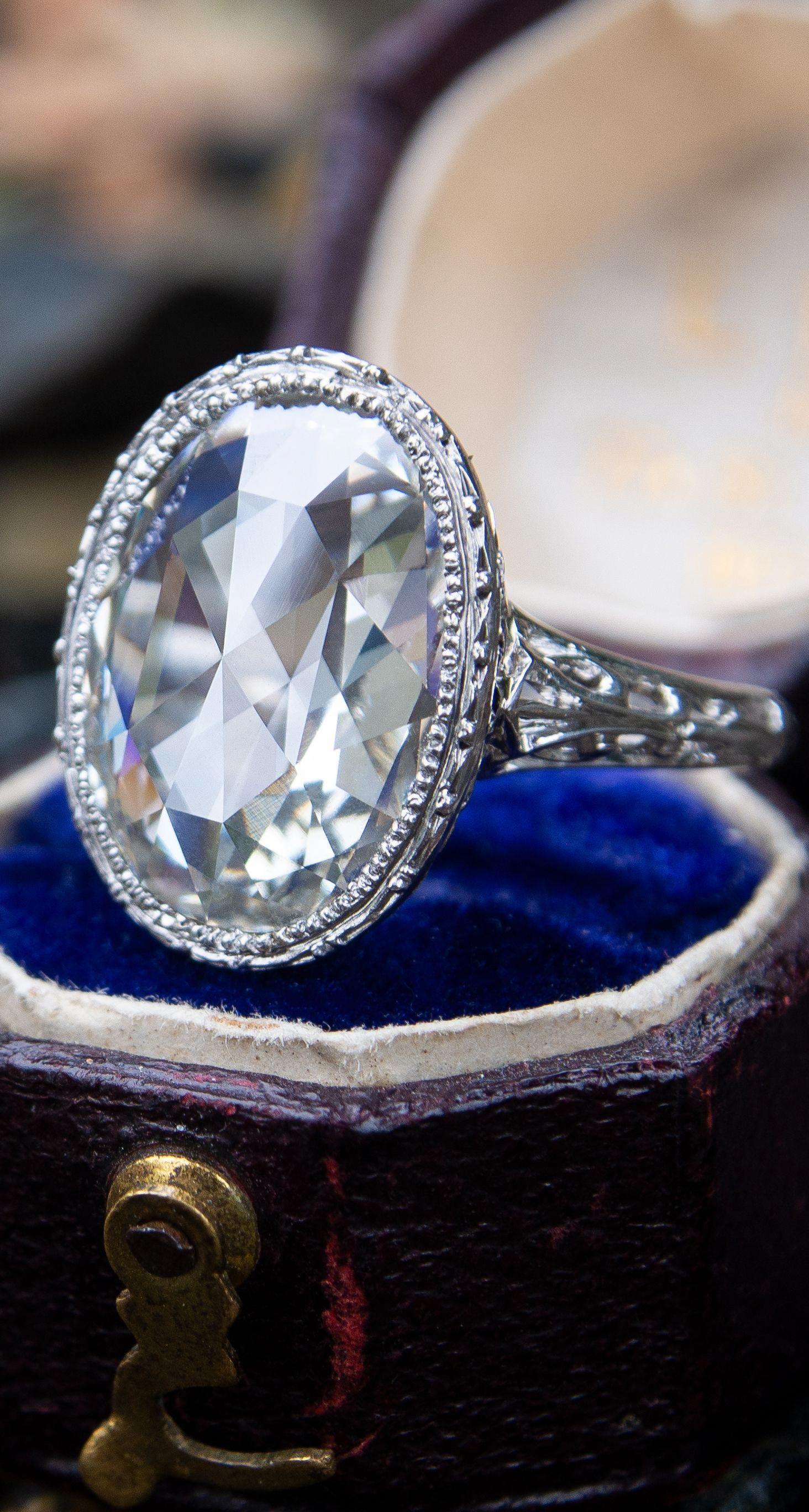 9b8c2698d471e Antique Rose Cut Diamond at EraGem.com #antiquerings | Antique Rings ...