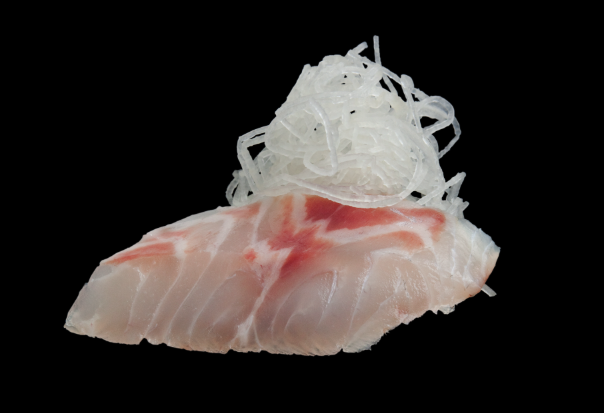 White Fish Sashimi at Sushi Counter - 8 dhs (1 piece) - call for delivery in Dubai.