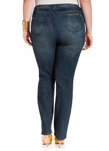 Ashley-Stewart-Womens-Plus-Size-Studded-Skinny-Jeans-Indigo-18-2