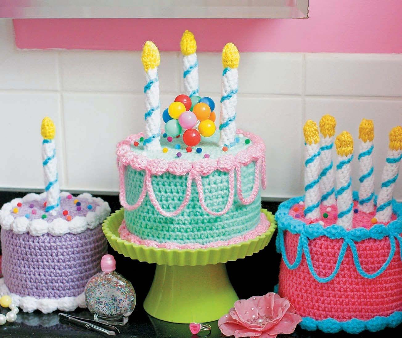 Swell 25 Best Image Of Crochet Birthday Cake Crochet Cake Crochet Birthday Cards Printable Benkemecafe Filternl