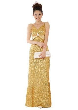 I Love Cutest Long Full Length Gold Sequin Prom Dresses Under 100 Dollars Gowns