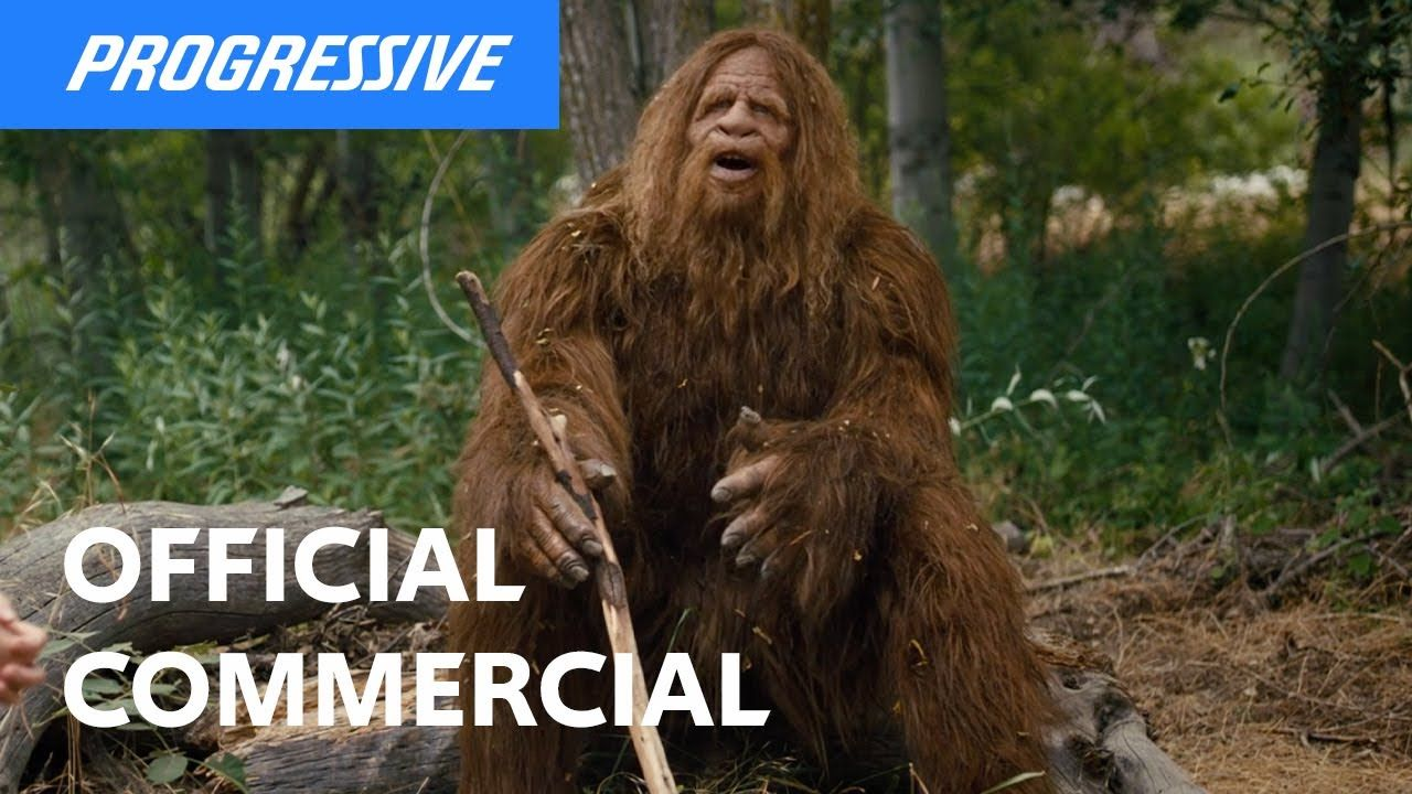 Sadsquatch Progressive Insurance Commerical Youtube In 2020