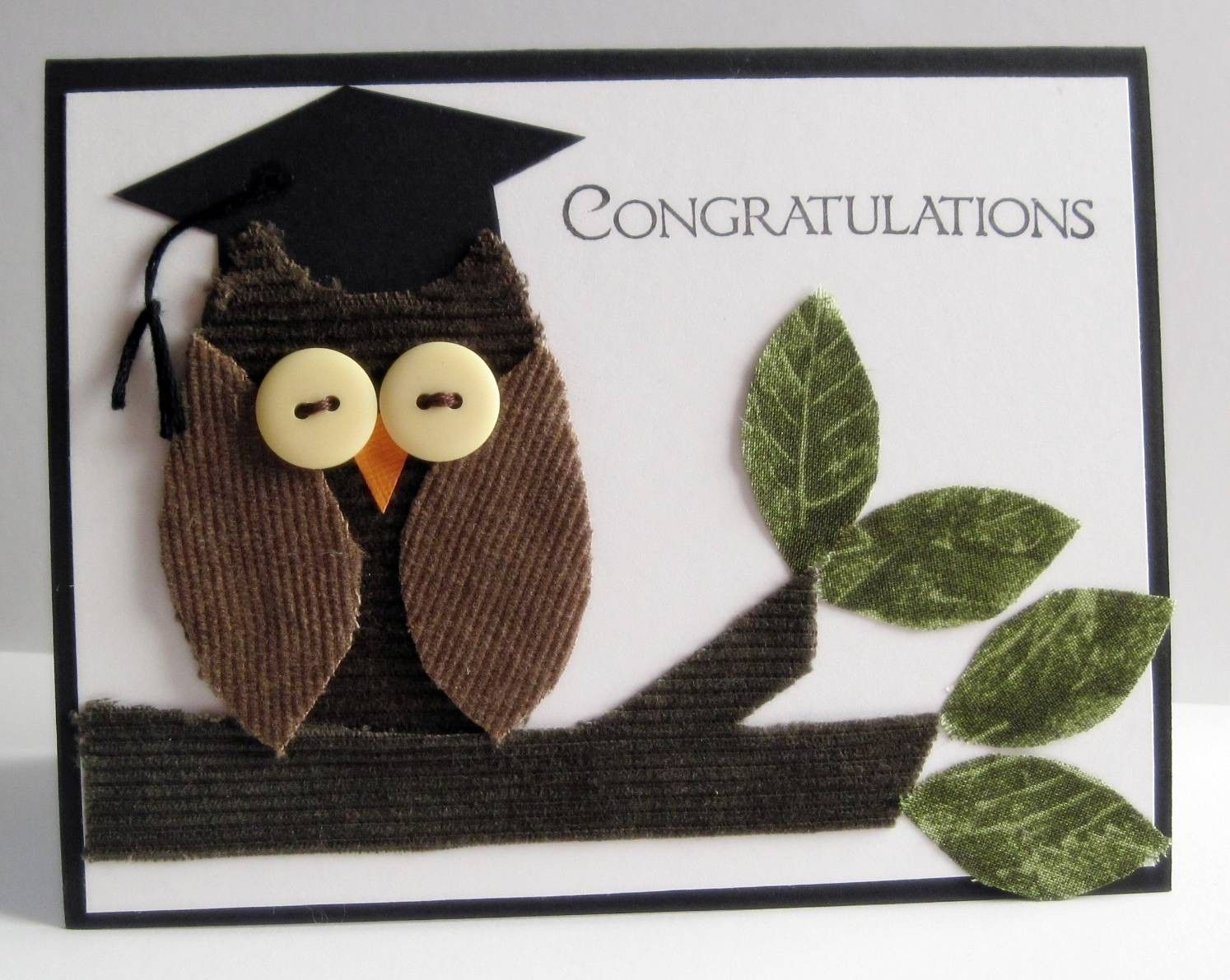 Owl graduation card congratulations card greeting card owl card owl graduation card congratulations card greeting card owl card card made to order kristyandbryce Gallery