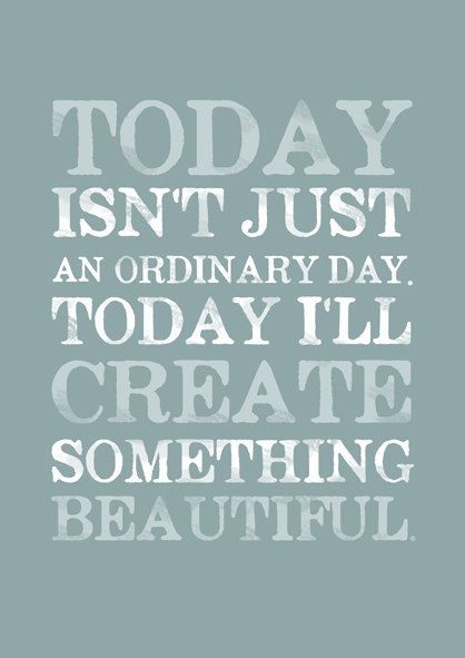 Today isn't just ordinary day by Gayana on Etsy,