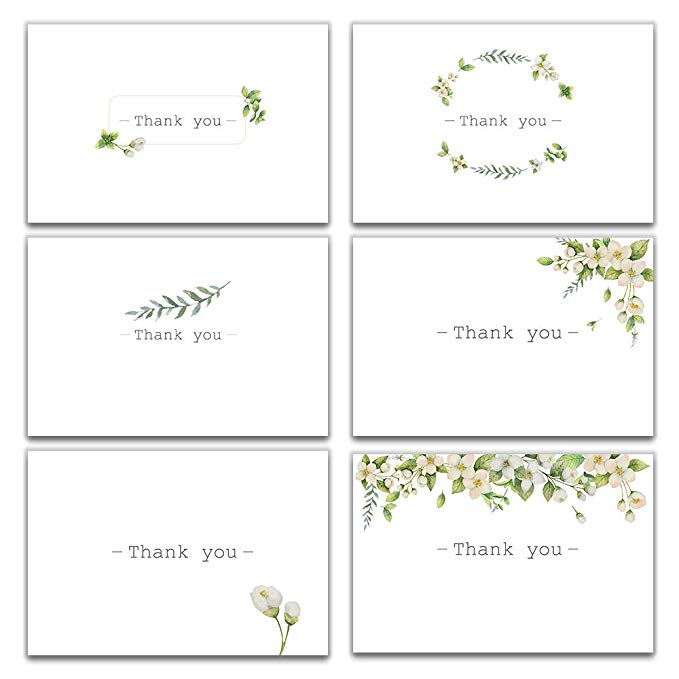 30 For 9 0 30 Each Thank You Greeting Cards Watercolor Cards Thank You Cards