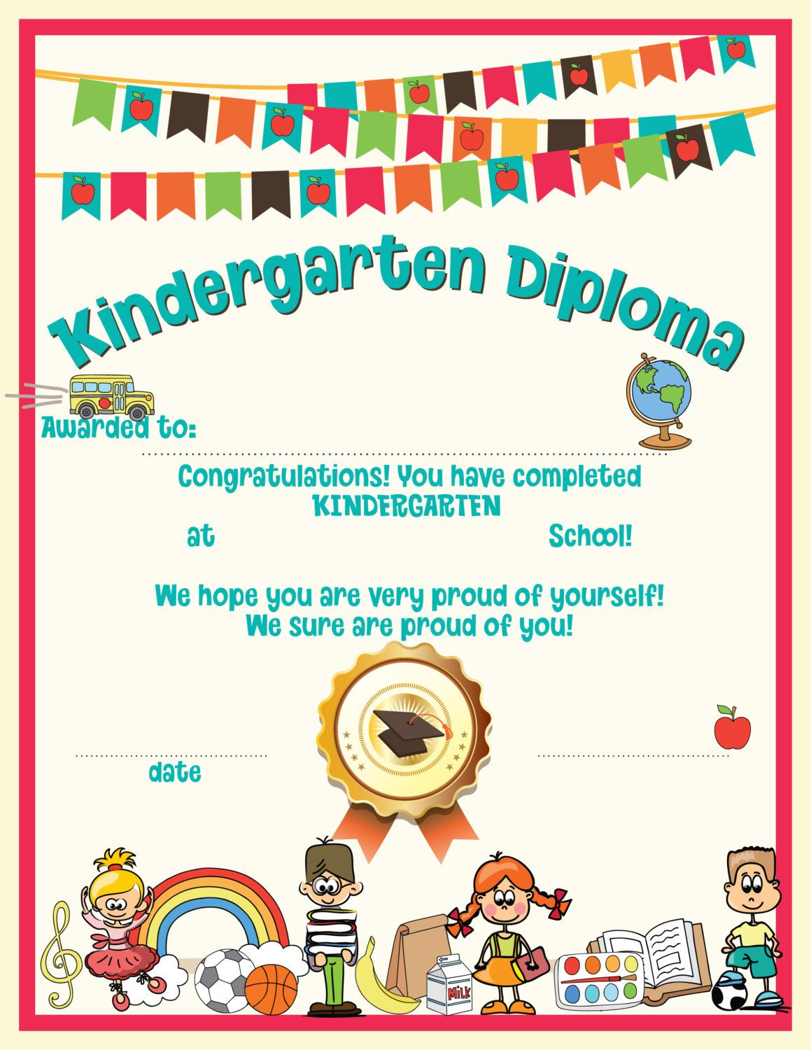 Kindergarten Graduation Instant Download Printable