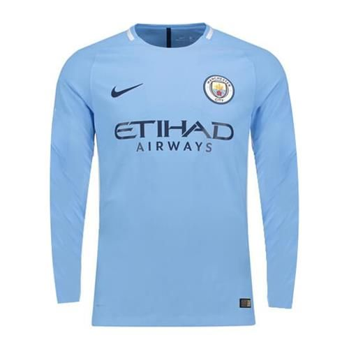 9ffd363aea9 17/18 Nike Manchester City Long Sleeve Home Jersey | 17/18 Season ...