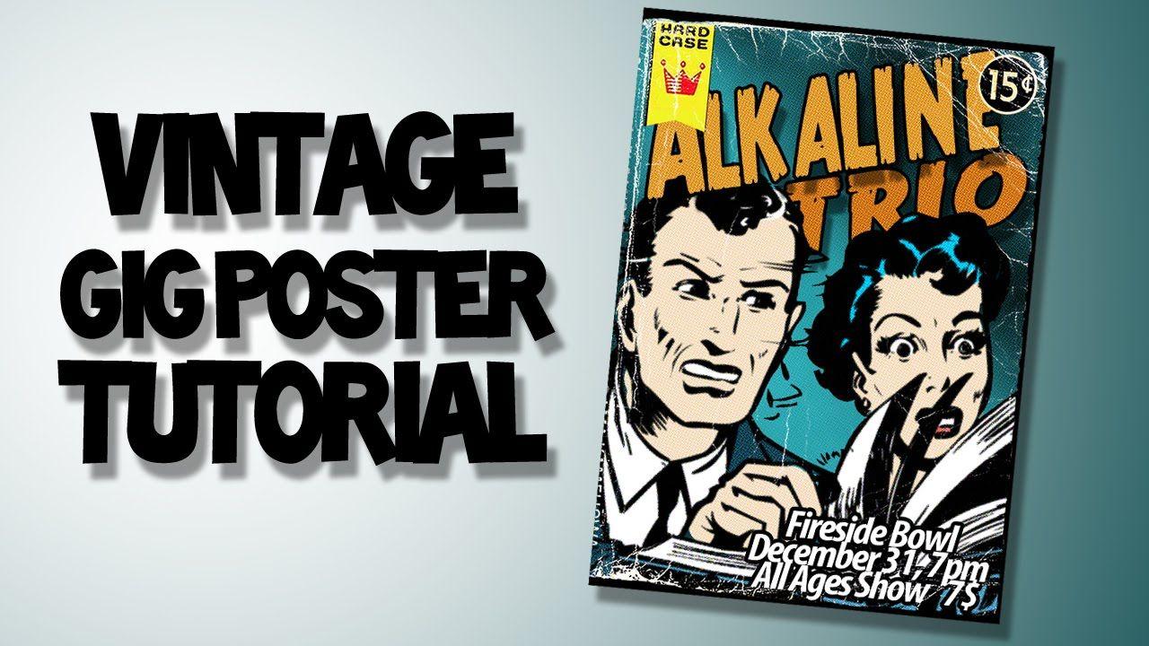 Adobe photoshop tutorial vintage gig poster adobe photoshop adobe photoshop tutorial vintage gig poster vintage comic booksvintage baditri Gallery