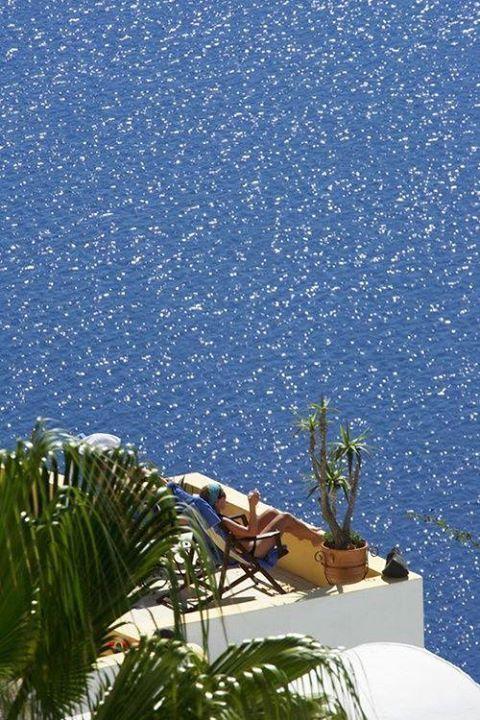 Ocean Balcony,Santorino #diet #weightloss #burnfat #bestdiet #loseweight #diets