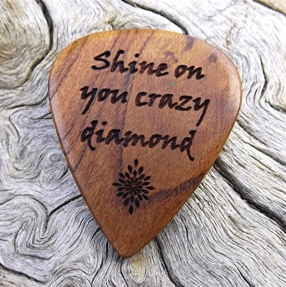 wood guitar pick premium handmade quality rustic california apricot wood laser engraved on. Black Bedroom Furniture Sets. Home Design Ideas