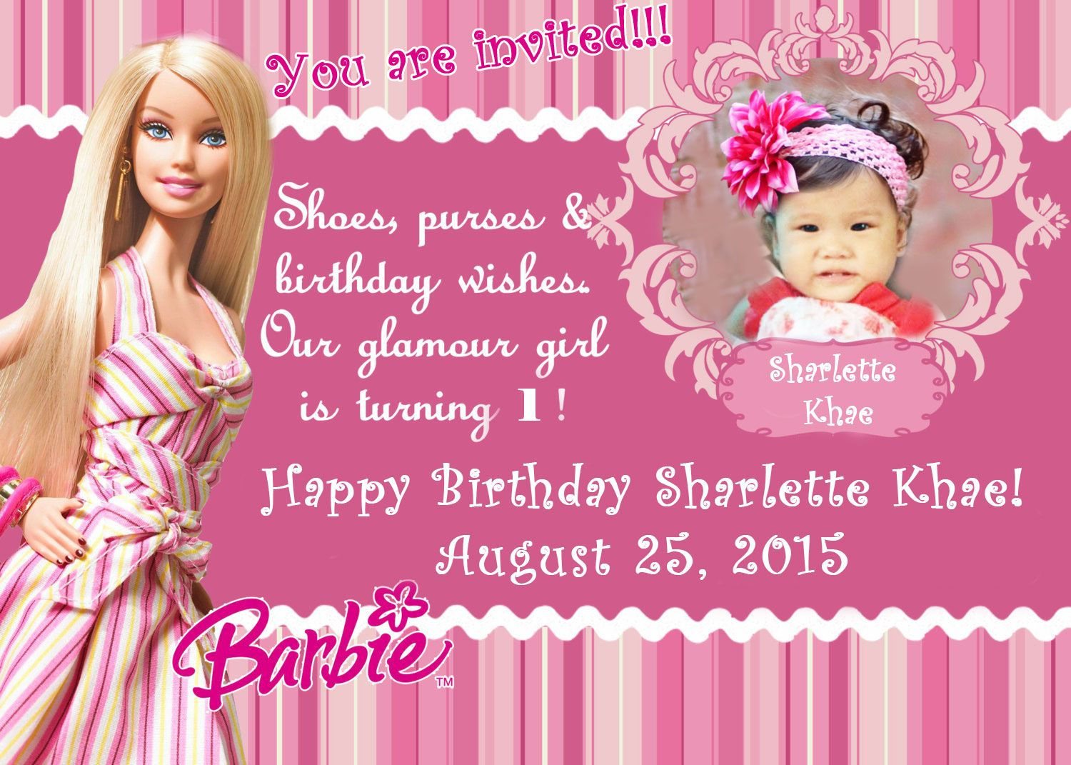 Barbie Invitation Template Google Search Avery S 6th Birthday