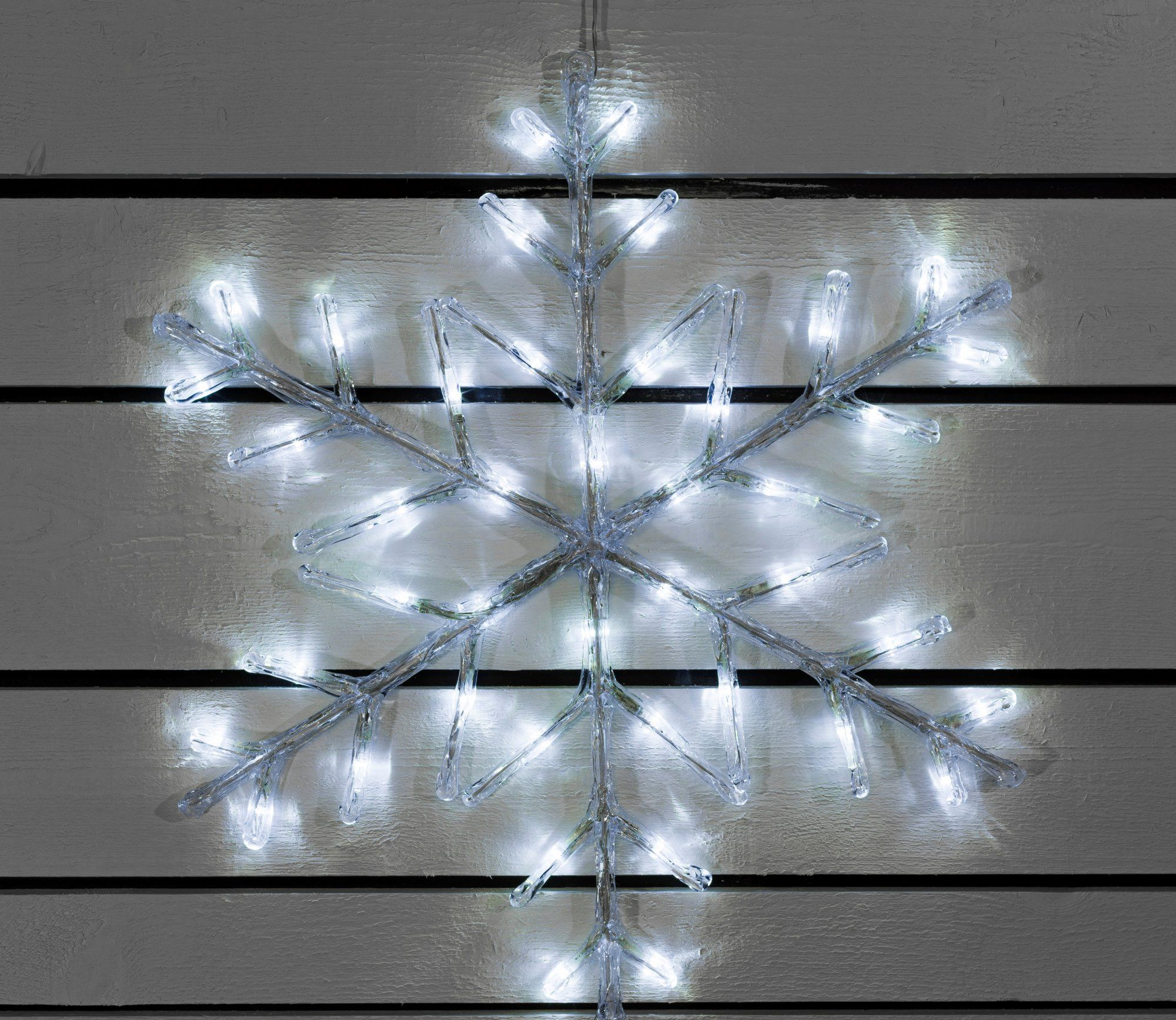 Outdoor Lightup Acrylic Snowflakes with Timer Snowflake